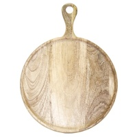 Mangowood Serving Board W/Handle 300x400x15mm Natural