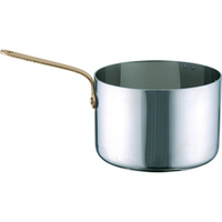 Miniature Saucepan 70x45mm 18/10 with brass handle