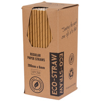Eco-Straw Paper Straw Kraft Brown