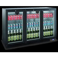 Bromic BB0330GD-NR Black 3 Door Bar Cooler Hinged