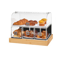 Rosseto Dome Bakery Case With Bamboo Base