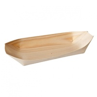 Bio Wood Oval Boat 170x85mm 50pk