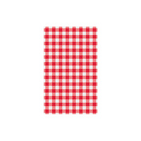 Moda Red Gingham Greaseproof Paper 200ctn