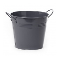 Charcoal tin Bucket with side handles